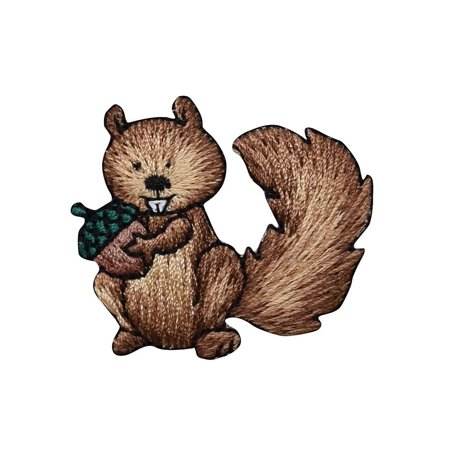 Squirrel with Acorn Nut - Embroidered Patch/ Iron on Applique
