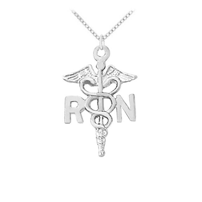 FineJewelryVault UBNPD30168AG Registered Nurse Award Neck...