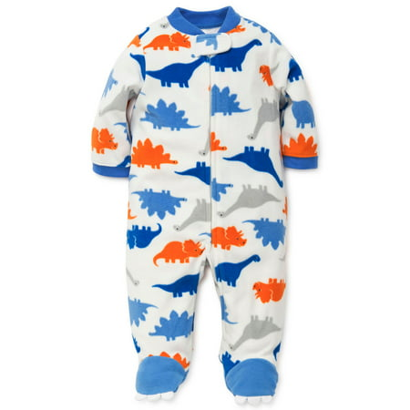 Dinosaur Footed Newborn Blanket Sleeper Boys Pajamas Off White 6 Month - Baby Fleece Footie Pajamas For Boys