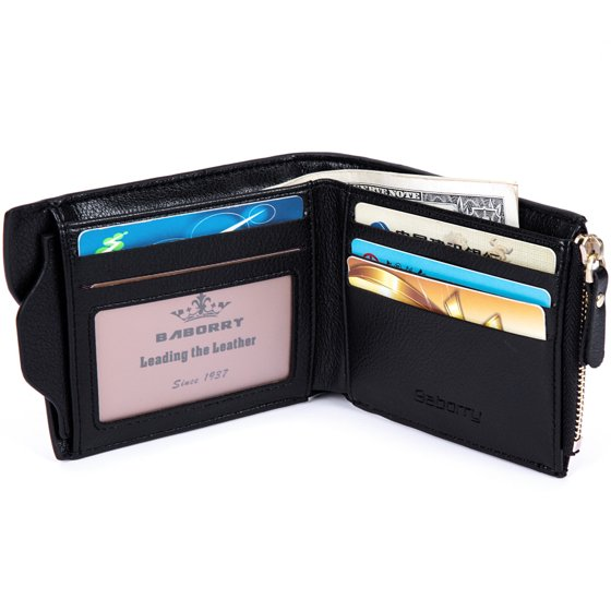 RFID Blocking Leather Wallets for Men - Multi Card Pockets High Capacity  Compact Bifold Wallet,Travel Credit Card Case/Wallets/Protector, Perfect BF