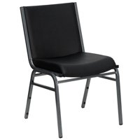 Heavy Duty Black Vinyl Fabric Stack Chair