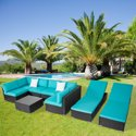 9-Pieces Kinbor Outdoor Patio Rattan Wicker Sofa
