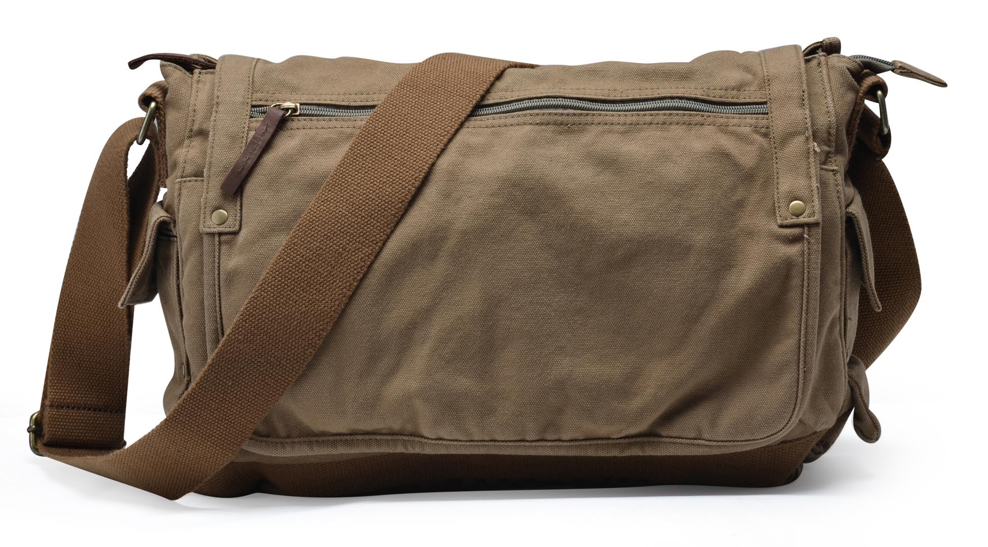 Gootium Vintage Canvas Messenger Bag Classic Cross-body Shoulder Bag ... a32188eb829