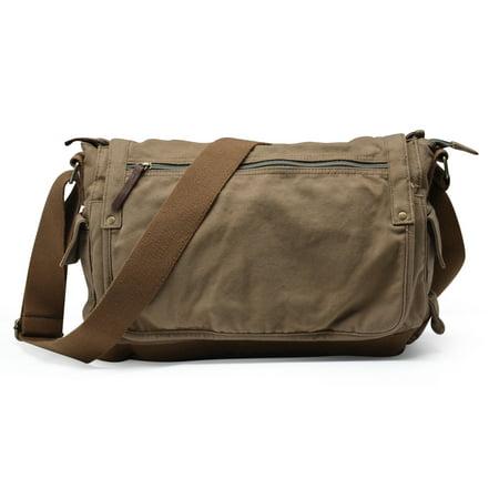 2c524c4a5b22 Gootium Vintage Canvas Messenger Bag Classic Cross-body Shoulder Bag ...