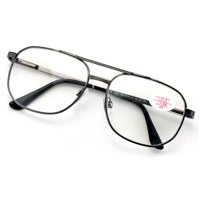f0684bfac22 Product Image Metal Aviator Reading Glasses - Spring Hinge Square Large  Lens Reader