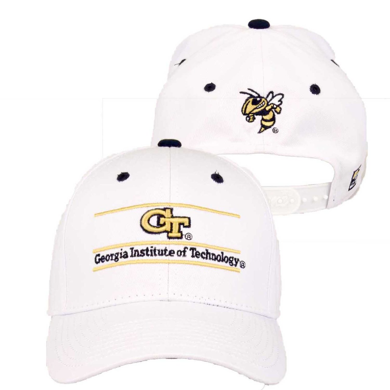 Georgia Tech Yellowjackets Adult Game Bar Adjustable Hat - White