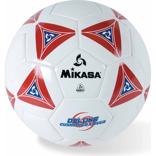 Mikasa Soft Soccer Ball, Size 5, Red/White