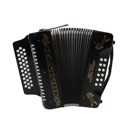Rizatti Bronco Rb31gb Diatonic Accordion   Black   Key G C F