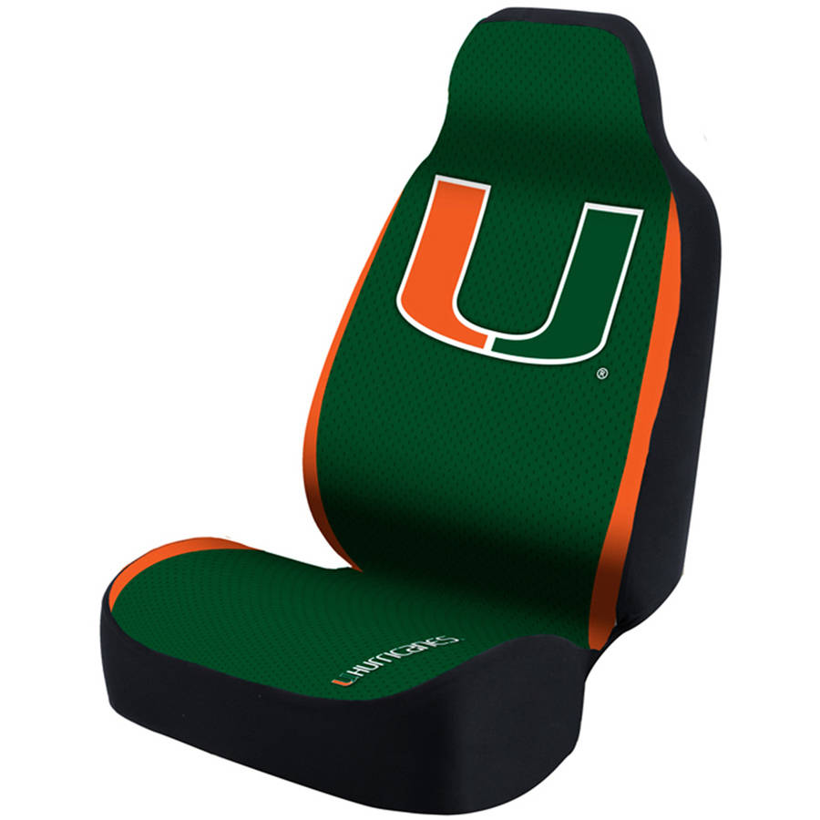 Coverking Universal Seat Cover Designer, University Of Miami, Green