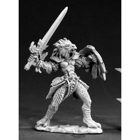 Paladin Miniatures (Reaper Miniatures Unpainted Na'Kaat Female 1/2 Dragon Paladin 03403 Dark)