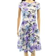 Jessica Howard NEW Lilac White Floral Lace Women's Size 12 Sheath A-LineDress