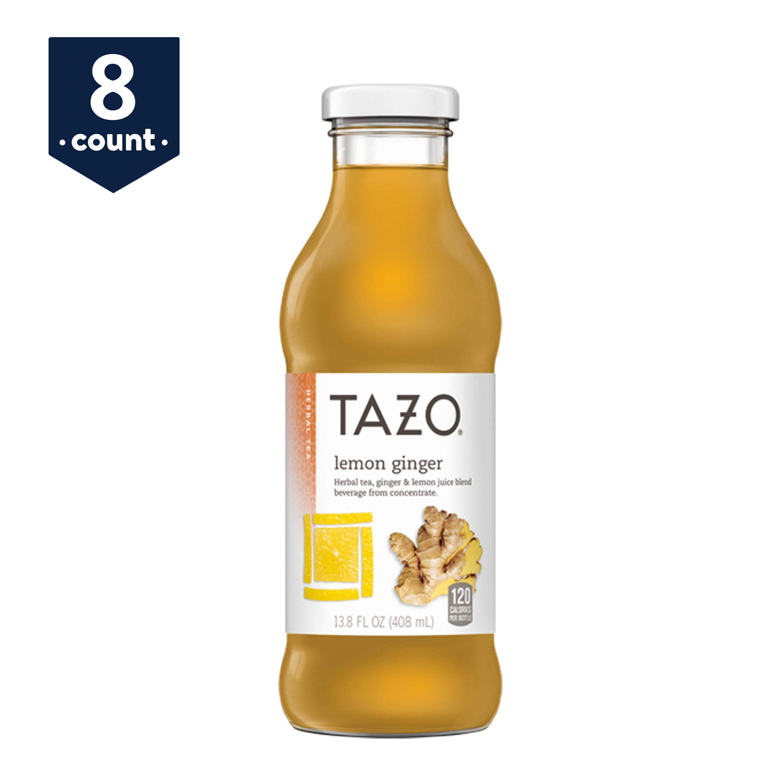 Tazo Lemon Ginger Tea, 13.8 oz Glass Bottles, 8 Count