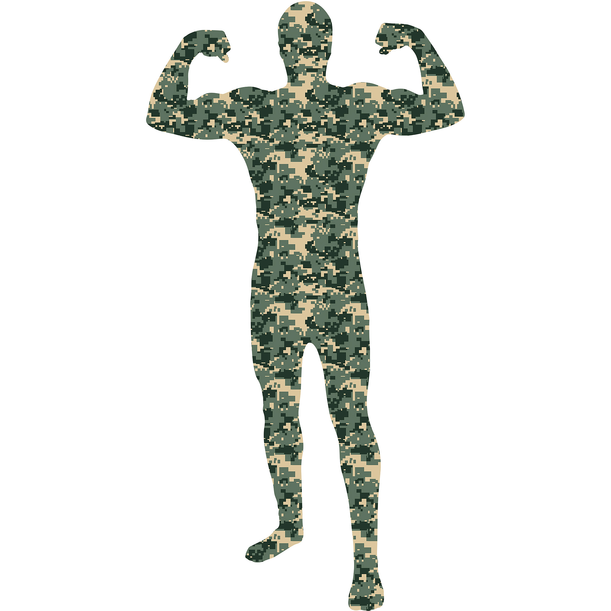 Camouflage Skin Suit Adult Halloween Dress Up / Role Play Costume ...