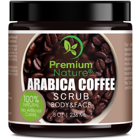 Arabica Coffee Scrub with Shea Butter - Natural Best Acne Anti Cellulite Stretch Mark Varicose Vein Eczema Skin Edition 2.0