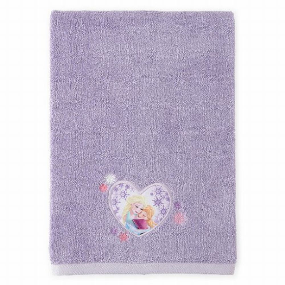 Disney Frozen Applique Bath Towel Purple Cotton Elsa & Anna by Jay Franco