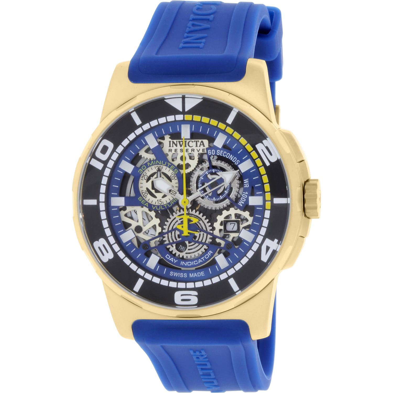 Invicta Men's Reserve 18948 Blue Rubber Swiss Quartz Watch