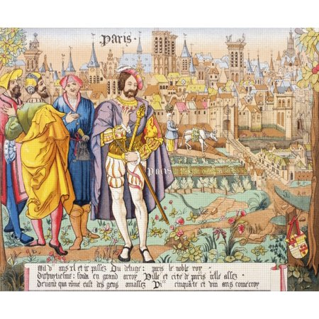 Paris In The 15Th Century After A Beauvais Tapestry From Les Artes Au Moyen Age Published Paris 1873 (15th Century Tapestry)
