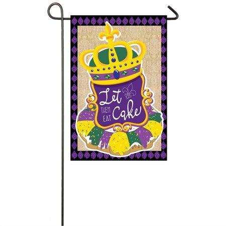 King Cake Garden Burlap Flag