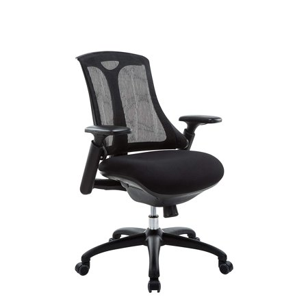 OFFICE FACTOR Mid Mesh Back Office Chair, Comfortable Ergonomic Computer Chair, Ventilated Mesh Back Task Chair for Office & Home. Multi-Function Highly Adjustable Executive Chair
