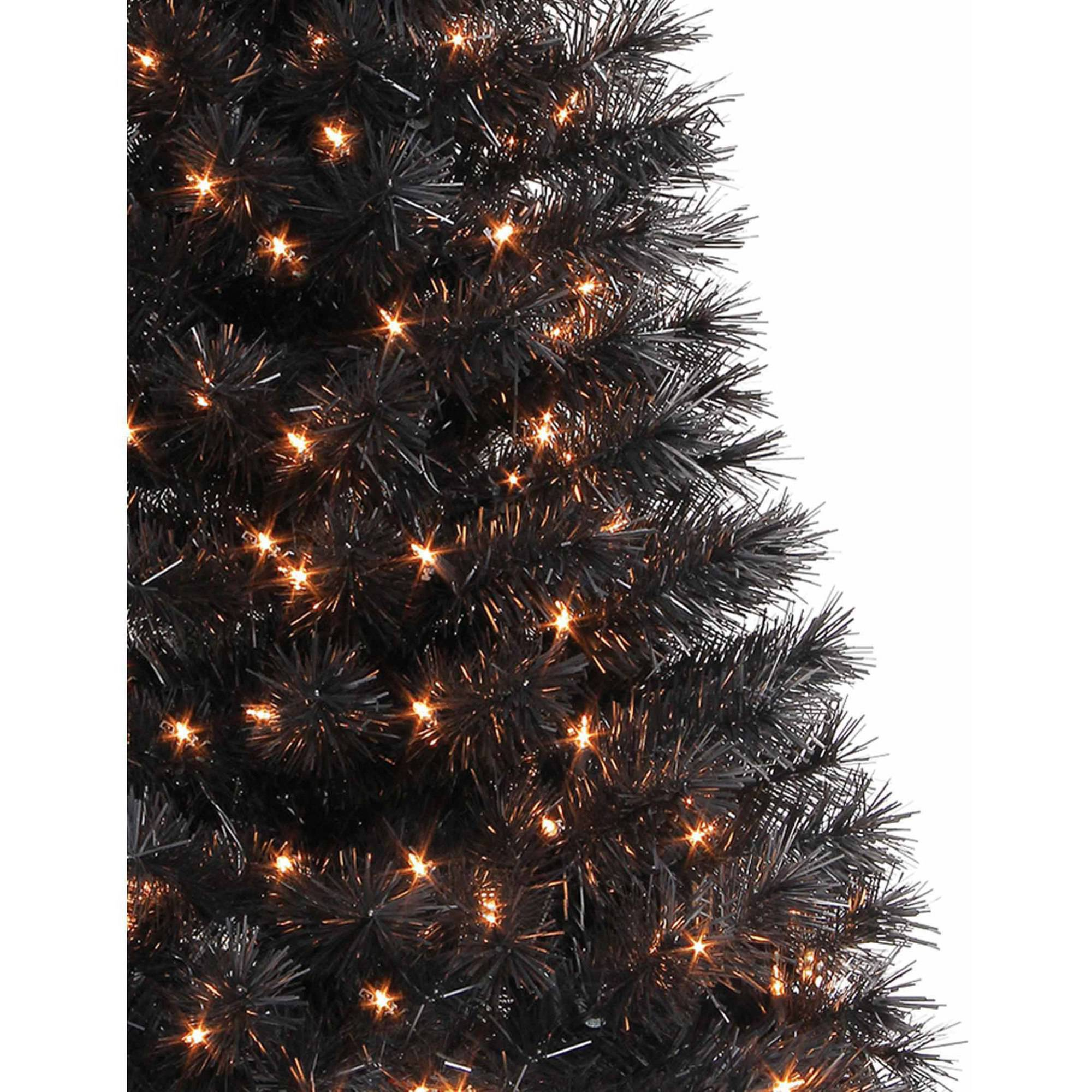 holiday time pre lit 4 indiana spruce artificial christmas tree blackclear lights walmartcom
