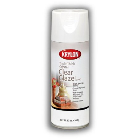 Krylon Triple Thick 12 Oz. Clear Gloss Spray Gives The Illusion Of Depth On Surfaces Such As Ceramics, Bisque, Clay, And Plaster (Duncan Ceramic Spray)