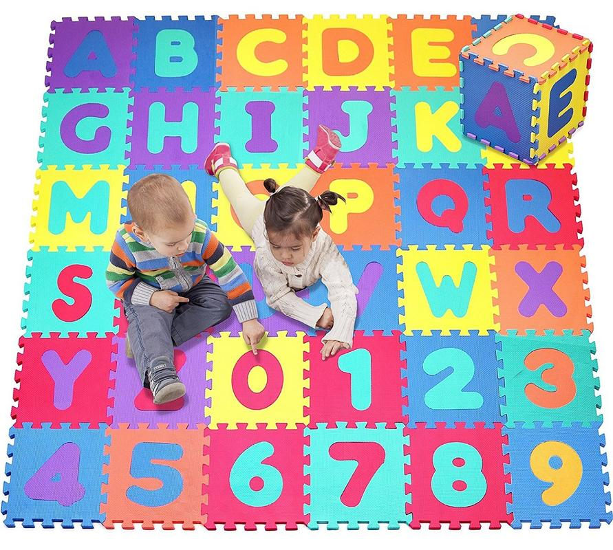 Click N' Play, Alphabet and Numbers Foam Puzzle Play Mat, 36 Tiles (Each Tile Measures 12... by Click N' Play