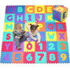 Click N' Play, Alphabet and Numbers Foam Puzzle Play Mat, 36 Tiles (Each Tile Measures 12 X 12 Inch for a Total Coverage of 36 Square Feet)