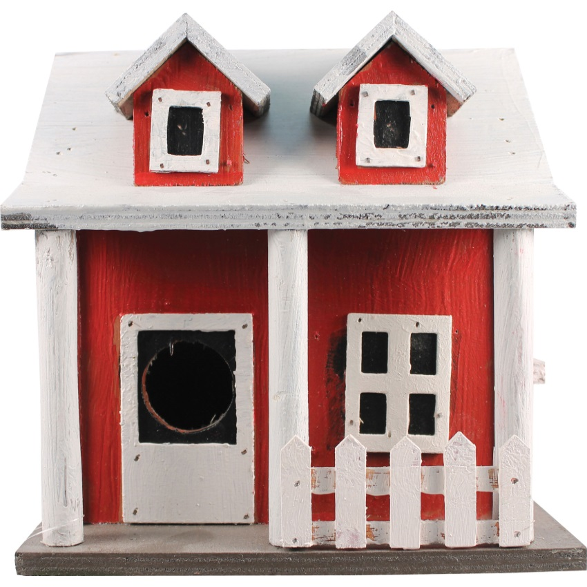 PICKET FENCE COTTAGE BIRDHOUSE - SE921, (Pack of 1)