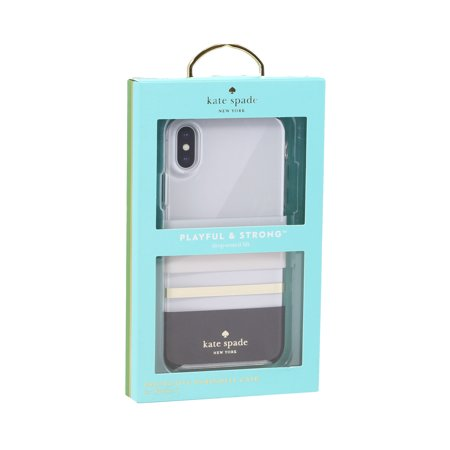 Kate Spade New York Hardshell Case For iPhone X / XS (ONLY) - Charlotte - Kate Spade Stripes