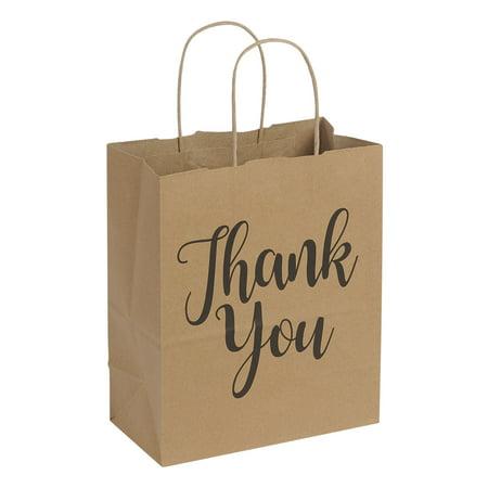 "Halloween Brown Paper Bag Decorating (Medium Kraft Thank You Paper Shopping Bags - 8""L x 4¾""D x 10¼""H - Case of)"