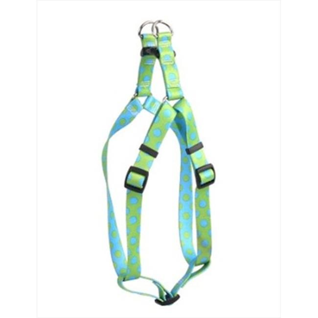 Yellow Dog Design Polka Dot Step-In Harness - Large