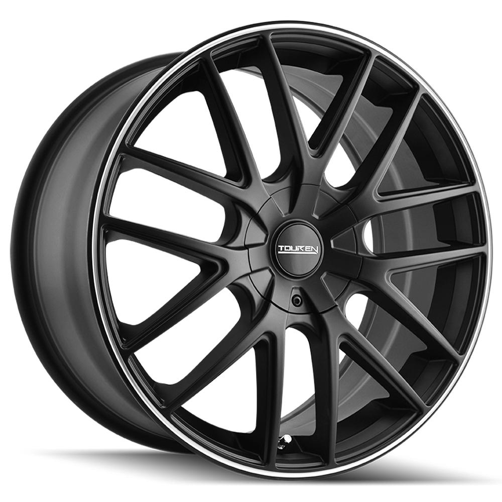 """16"""" Inch Touren TR60 16x7 5x100/5x114.3(5x4.5"""") +42mm Matte Black Wheel Rim"""