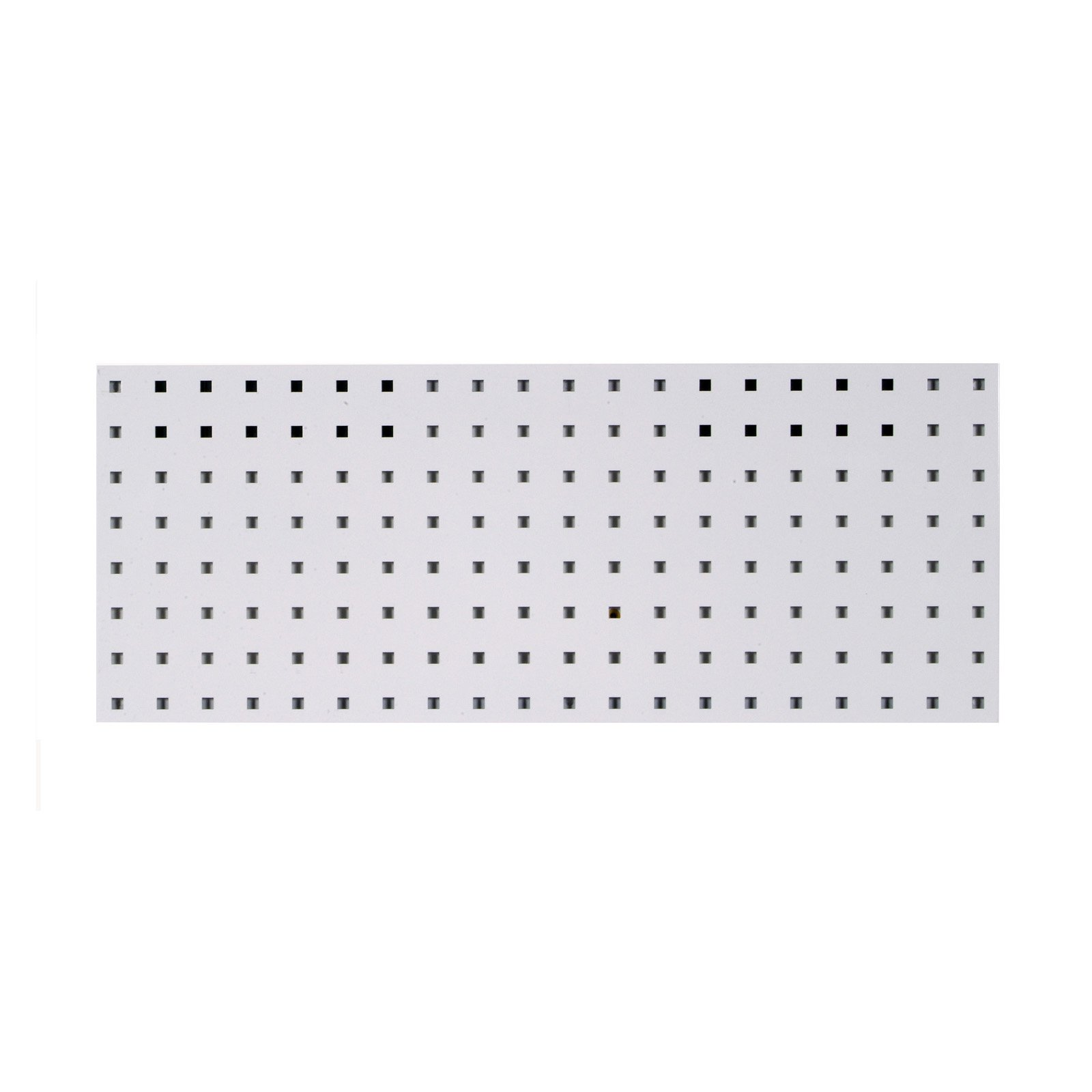 "LocBoard (1) 30""W x 12""H Epoxy, 18 Gauge Steel Square Hole Pegboard Strip"