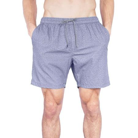 Elastic Waist Mens Boardshorts | Chubbies Swim Trunks Gym Short For Men-Grey-Small