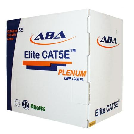 Infinity Cable CAT5E Solid CMP Plenum, Bare Copper 1000 Ft. Bulk Cable Advanced Pull Box, Blue