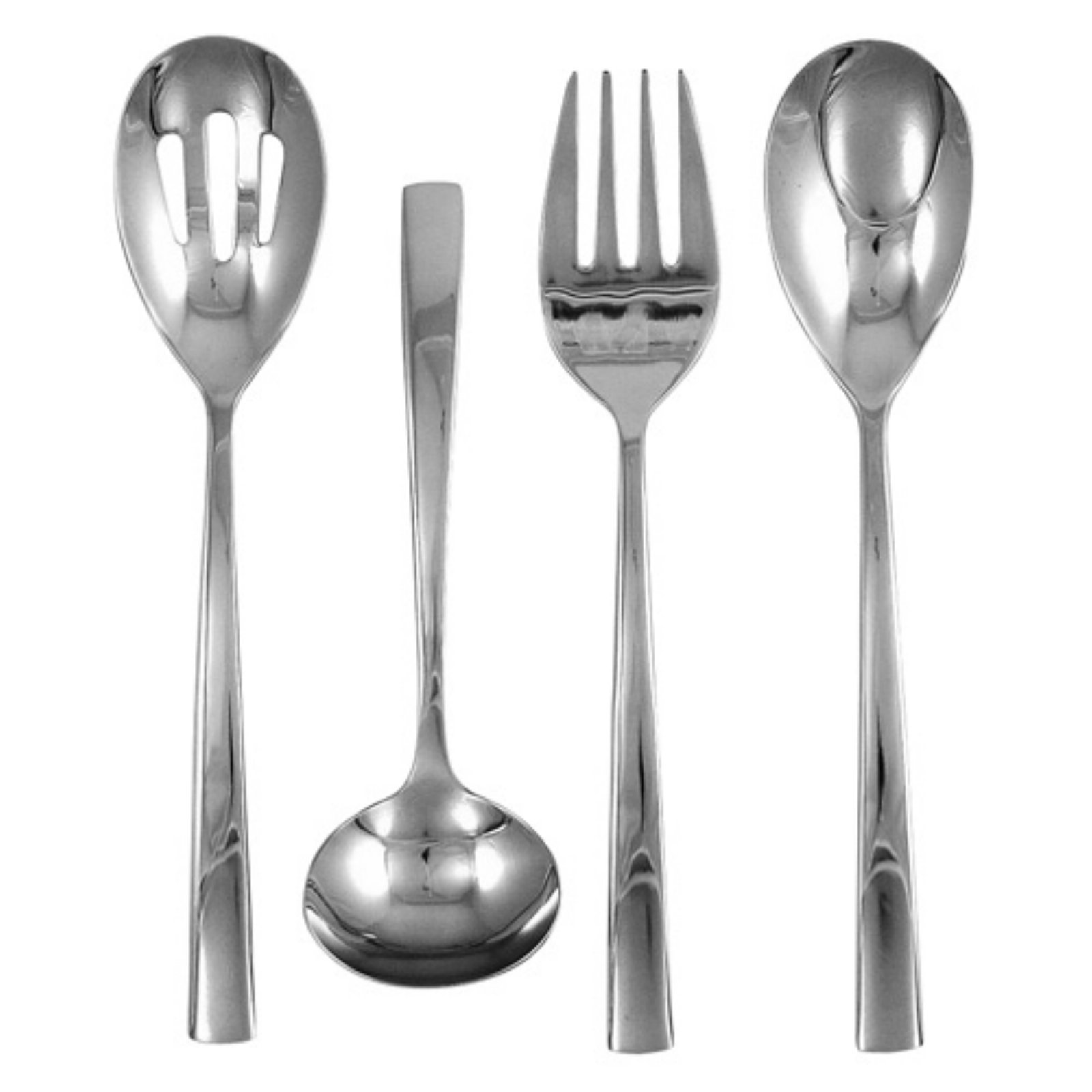 Ginkgo President Stainless Mirror Finish Flatware Hostess Set - Set of 4