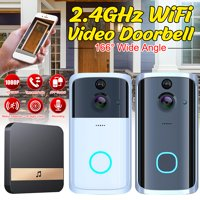 1080P HD Wireless Wifi Smart Doorbell Camera Two-way Intercom Motion Detection Home Security Night Vision Doorphone with Indoor Chime
