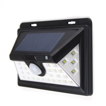34 LED 6W Solar Powered Energy Wall Lamp PIR Motion Sensor Human Induction Technology Light Control 3 Lighting Modes IP65 Water Resistance SMD2835 2200mAh Rechargeable High Capacity Battery for Backya - image 7 of 7