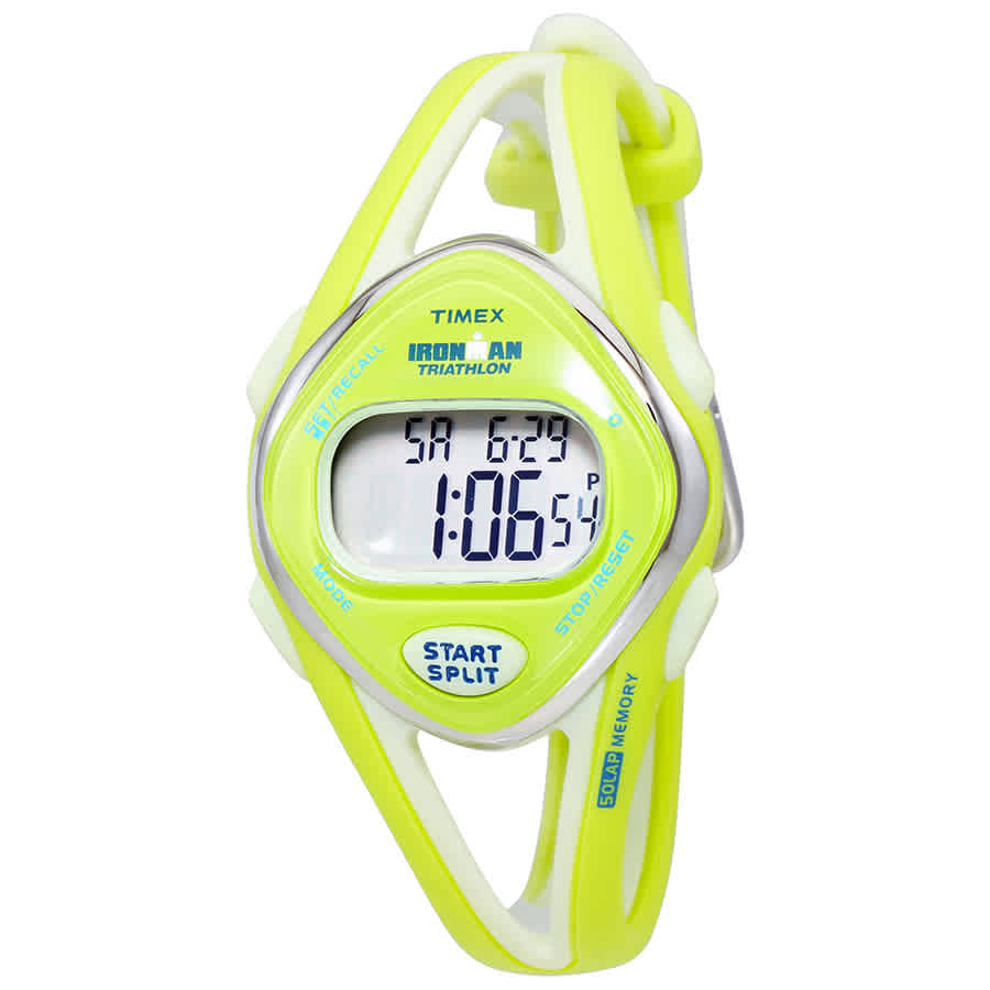Timex Ironman Sleek Ladies Lime Green Digital Sports Watch T5K656