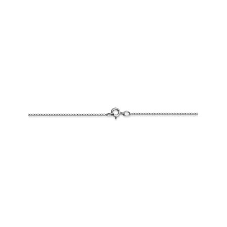 0.42 mm 10k White Gold Thin Curb Chain for Pendants - 20 Inch (10 K 20 Inch Gold Chain)
