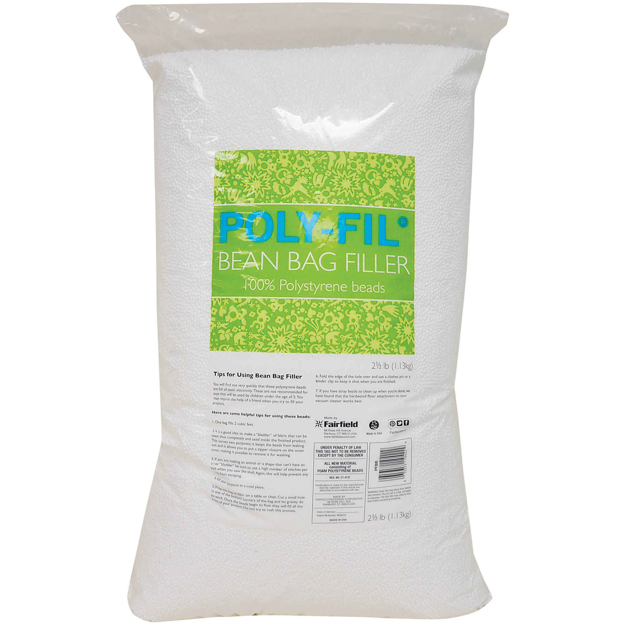 bean bag refill poly fil bean bag filler 2 1 2 lb bag walmart 29191