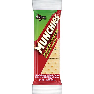 Munchies Jalapeno Cheddar Flavored Sandwich Crackers (32 pk.) pack of 3](Halloween Munchies)