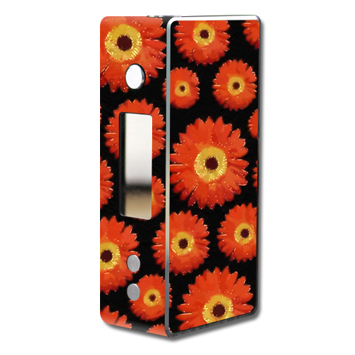 Skin Decal Wrap for Dovpo Guardian 7.5 75W mod vape Orange Flowers