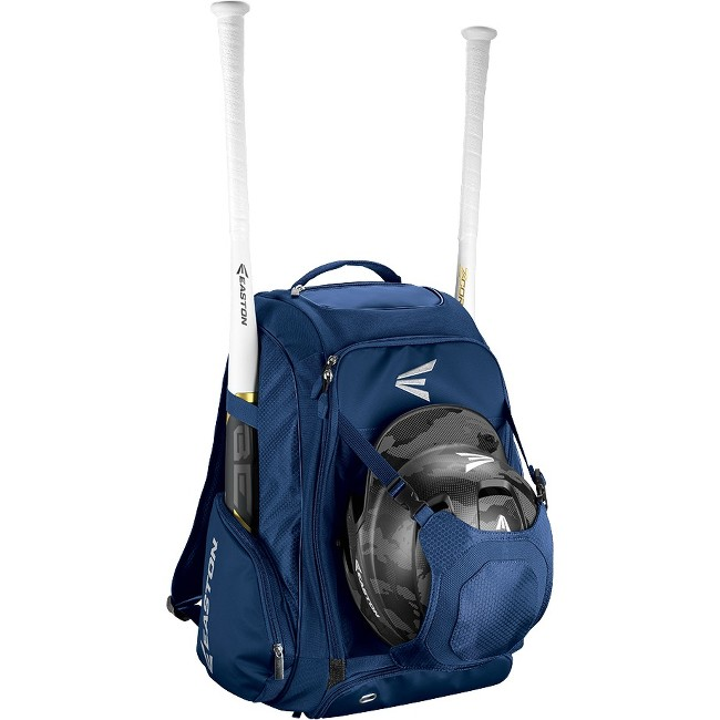 "Easton Walk-Off IV Carrying Case (Backpack) for Bat, Helmet, Cleat, Shoes, Ball - Navy - Felt Pocket, Ripstop Polyester, 600D Polyester - Shoulder Strap - 20"" Height x 9.5"" Width x 14"" Depth"
