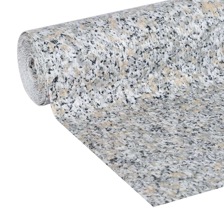 "Duck Brand Smooth Top Easy Shelf Liner, 12"" x 10', Grey Granite"