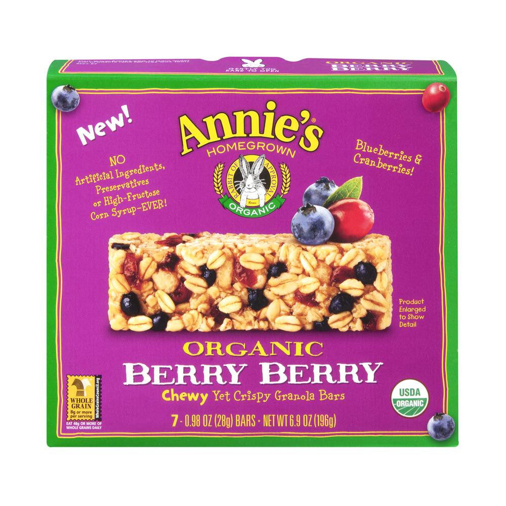 Annie's Homegrown Organic Granola Bars Organic Berry Berry - 7 CT