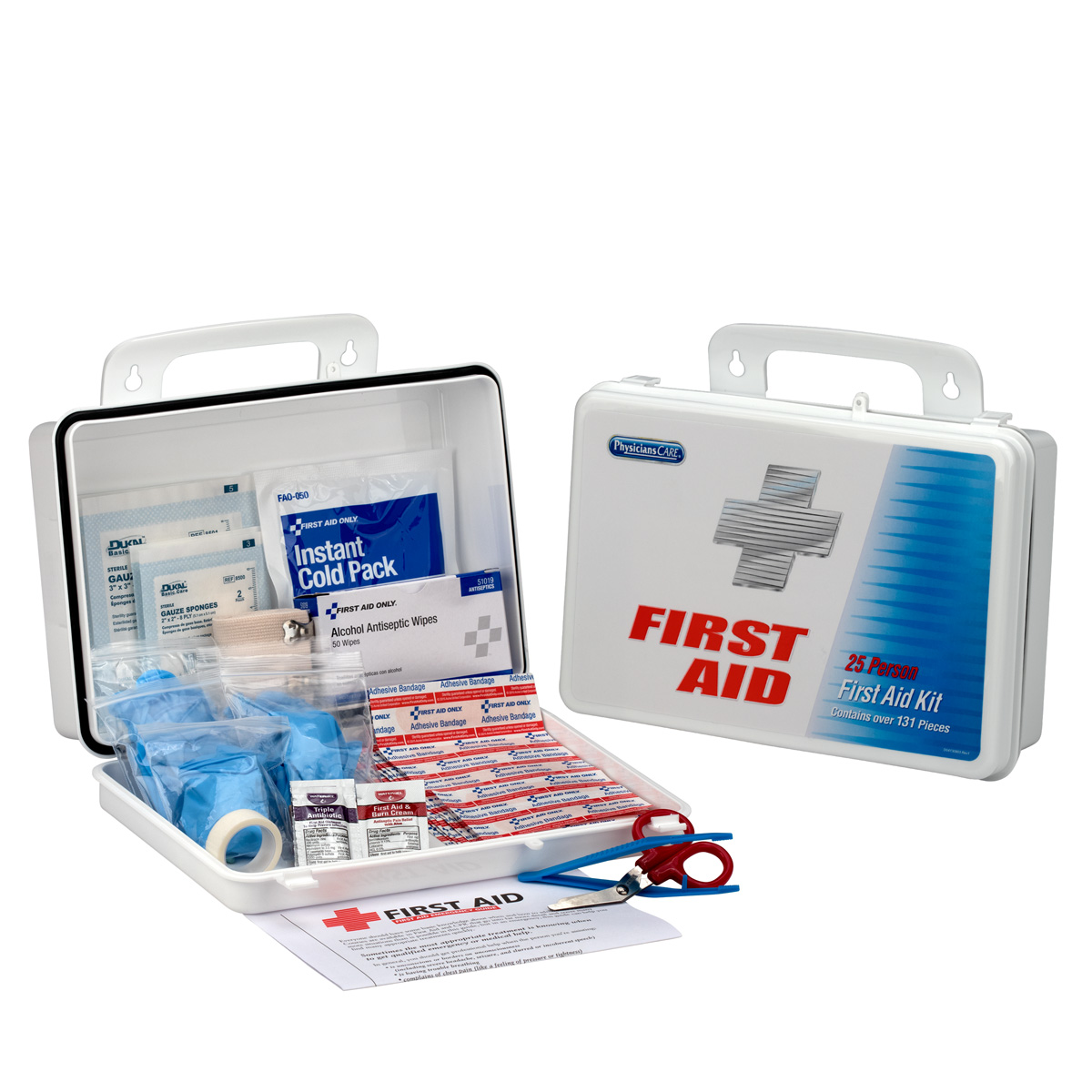 PhysiciansCare by First Aid Only 25 Person First Aid Kit, Plastic Case
