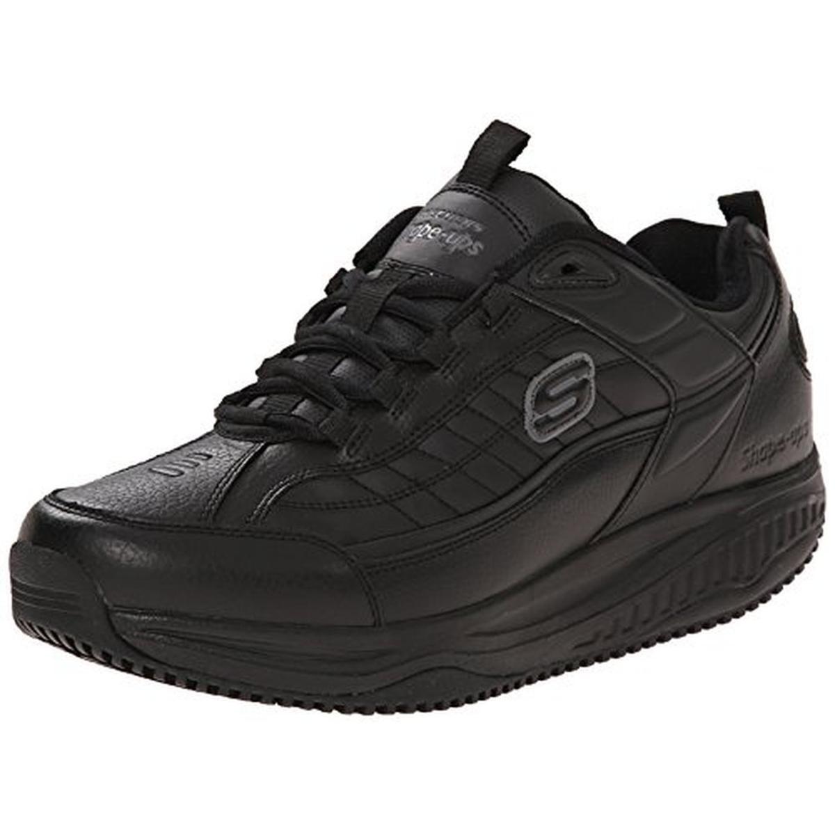 Skechers Mens Shapes Ups Exeter Leather Slip Resistant At...