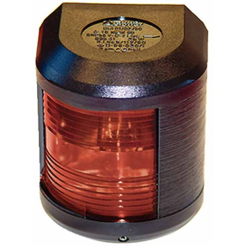 Aqua Signal 41300 Series 41 Navigation Light for Power or Sail Direct Mounting, Port Side Mount, Black