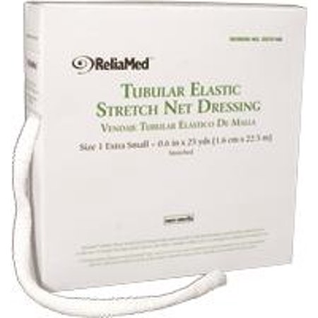 Stretch Net Tubular Elastic Dressing (ReliaMed Tubular Elastic Stretch Net Dressings - Hand, Arm, Leg and Foot - Size 2, Small (4